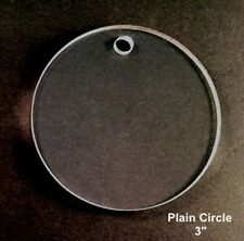 "(10) 3""Plain Circle Clear Acrylic 1/8' Thick Keychain Blanks"