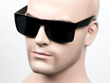Large Square Cholo Sunglasses Super Dark OG LOC Style Gangster Black/Glossy 13SD
