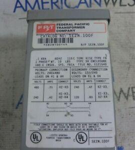 Federal Pacific SE2N.100F .1KVA 1 Phase 60Hz 3R 480-240V Transformer