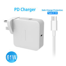 AC 61W USB C Power Supply Adapter Charger+Type C Cable for Macbook 12'' Pro 13''