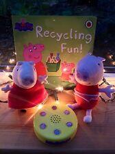 Peppa Figura-Giocattolo Pig Peppa Figure Peluche Beanie Pig, Giocattolo & pacchetto LIBRO-SNDS!