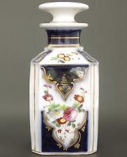 19C Antique French Porcelaine de Bayeux Porcelain Perfume Bottle Flacon Jar Gold
