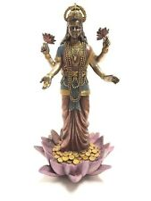 "Religious Decoration Hindu Goddess of Weath Lakshmi Figurine 9.5"" Tall Statue"
