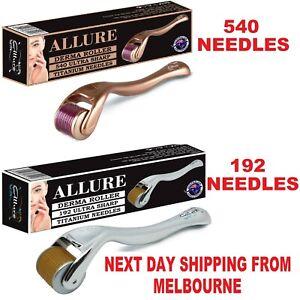 Derma Roller 540/192 Titanium Microneedles Anti Aging 0.25mm - 2.5mm Australian