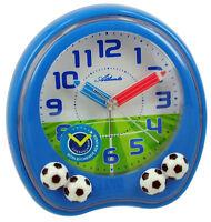 Atlanta Fussball Kinderwecker Blau Geräuscharm 1719/5 Quartz Analog Wecker