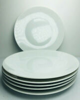 Rosenthal Germany Classic Modern White Salad Plates SET of 6 MCM Vtg  7 5/8""