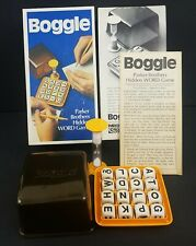Boggle Parker Brothers Hidden Word Game 1976 Vintage 70s Board Games