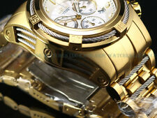 NEW Invicta Reserve 52mm Bolt Zeus Swiss Chronograph 18K Gold IP SS Diver Watch