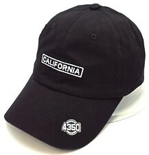 CALI Ball Cap California Republic Unstructured Dad Hat Adult OSFM Black NWT