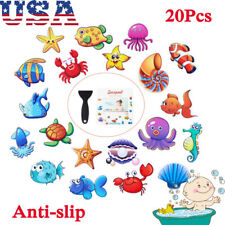 20Pcs Large Non Slip Bathtub Stickers Self Adhesive Anti Slip Room Decal+Scraper