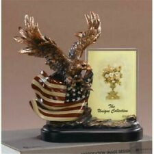 Eagle With Flag and Picture Frame Sculpture Statue Trophy - Marian Imports