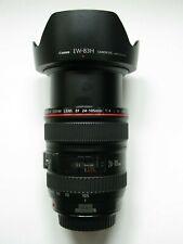 24-105mm F/4 Canon EF L LENTE USM IS + tappi + Cappuccio EW-83H - S.N. 9748515