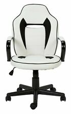 Argos Home Faux Leather Gaming Chair - White & Black