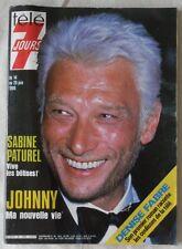 TELE 7 JOURS N° 1359 JOHNNY HALLYDAY SABINE PATUREL DENISE FABRE