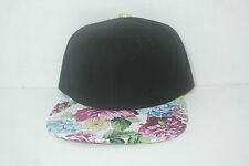 Blank Snapback Floral Brim New Authentic