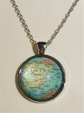 RHODIUM PLATED PENDANT NECKLACE - MAP OF SPAIN - FREE UK P&P.......CG1112