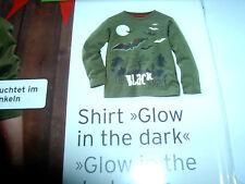Kinder - Shirt, Fledermäuse, leuchtet im Dunklen, Gr. 134 /140, von: Tchibo, neu