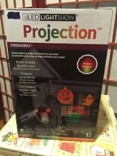 Lightshow Projection w/ Sound-Effects Halloween Fireworks Gemmy Industries NIB