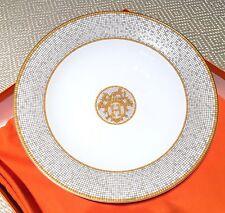 "Authentic Hermes Mosaique Au 24 Large Round Deep Plate 11.6"" Porcelain China NEW"