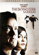 THE DA VINCI CODE-SAKRILEG Tom Hanks- EXT.VERS 2DVD*NEU
