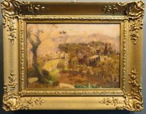 HENRY LINTOTT RSA (1878-1965) original Antique Oil Painting PROVENCE FRANCE