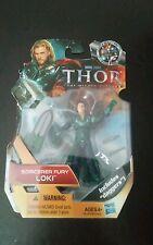"New 2010 Marvel Thor Sorcerer Fury Loki Figure 4"" Includes Daggers Hasbro"