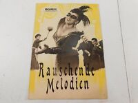 Progress Filmillustrierte German Movie Program Rauschende Melodien 1955