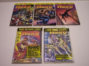 HERO ILLUSTRATED PRICE GUIDE LOT, 5 issues, Fanzine, spans #'s 3- 9, 1993