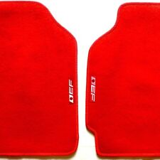1988-1991 Honda Civic CRX EF Logo RED Floor Mats Fits Coupe Sedan + Hatchback