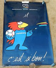AFFICHE Collector FOOTBALL FRANCE 98 avec OTI