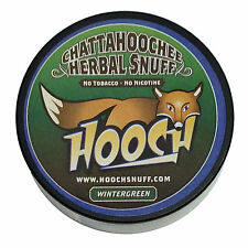 Hooch Snuff - Non-Tobacco Nicotine Free Chew - Wintergreen - Rough Cut