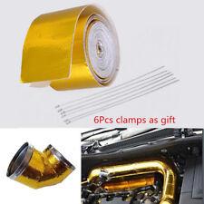 "200"" Car Fiberglass Self Adhesive Gold High Temperature Heat Shield Wrap Tape"