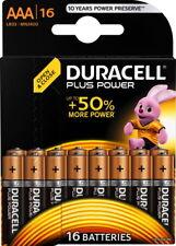 16 Duracell Plus Power AAA / Micro / MN2400 Alkaline Batterien im 16er Blister