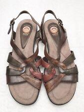 Womens Size 9.5 EARTH SPIRIT Multi Color Slingback Buckle Comfort Sandals
