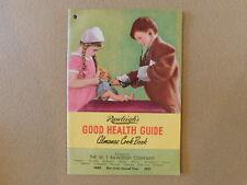 1 Rawleigh's Good Health Guide Almanac Cookbook from 1951