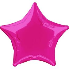 HOT PINK STAR SHAPED FOIL 45cm  BALLOON