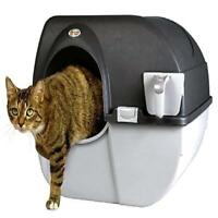 Lightweight Large  Self Cleaning Litter Box Black for Pets  Lovers Accessories