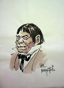 "VAL MAYERIK Signed COUSIN EERIE Hand Painted Comic Eerie Magazine Art 8""x11"""