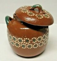 Traditional Tlaquepaque Ollas de Barro Mexican Redware Clay Bean Pot 1 Qt