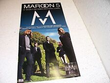 Maroon 5 It Won't Be Soon Before Long Double Sided Promo Poster Rare 12 X 24