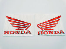 Motorcycle 3D Raise Gas Tank Emblem Decal L/R Set for Honda Wing 9 x 7cm New Red