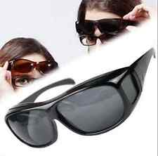 Unisex HD Night Vision Driving Sunglasses Nice Over Wrap Around Glasses New HS