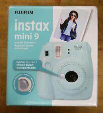 Fuji Instax Mini 9 Fujifilm Instant Film Camera Ice Blue new in box.