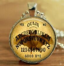 OUIJA Board FLYING BAT Full WINGS Silver Pendant Necklace USA Seller Cabochon