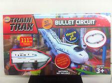 37 PZ Bambini Treno TRAX 111cm TRACK Looper Proiettile Set Treno RACING GRATIS BATTERIE