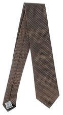 Seidenkrawatte gemustert bronze Marken Krawatte 100% Seide Herren