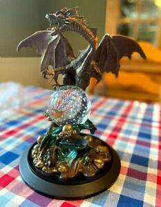 Dragon of Wisdom Crystal Ball by Julie Bell, Franklin Mint