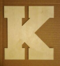 """New listing 16"""" Wooden Block font style Letter Unfinished wood letters Custom 16 inch"""