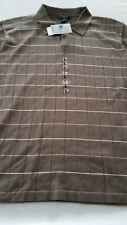 NWT Men's Dockers Short Sleeve Silk COTTON  MINK Shirt Size Large collar buttons