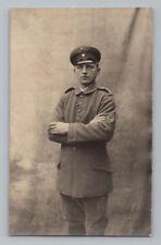 WW1 GERMAN Real Photo RPPC Postcard OFFICER SOLDIER Uniform w/ IRON CROSS RIBBON